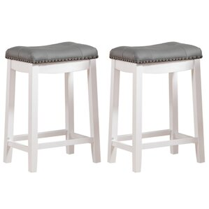 Cambridge 24  Bar Stool (Set ...  sc 1 st  Wayfair & White Bar Stools Youu0027ll Love | Wayfair islam-shia.org