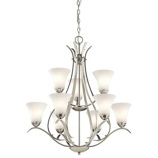 Alcott Hill Bourne 9-Light Shaded Chandelier