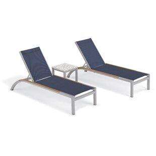 Saint-Pierre Reclining Chaise Lounge with End Table