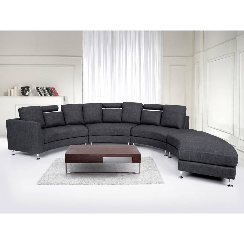 Crivello Curved Sectional Sofa