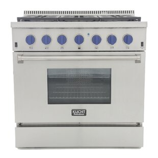 36 Free-standing Dual Fuel Range by Kucht