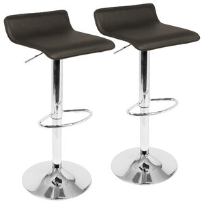 Dan Adjustable Height Swivel Bar Stool (Set of 2) by Wade Logan