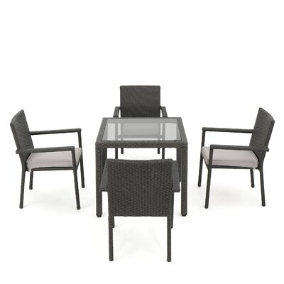 Brooklet 5 Piece Dining Set With Cushions by Zipcode Design 2020 Sale
