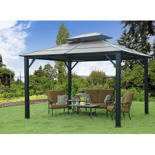 Rolla 10 Ft. W x 12 Ft. D Metal Patio Gazebo by Sunjoy