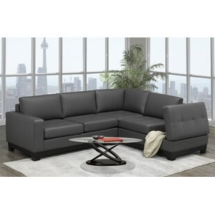 Merideth Leather Condo Sectional by Latitude Run