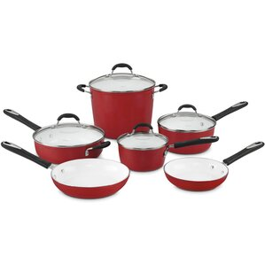Elements 10 Piece Non-Stick Ceramic Cookware Set