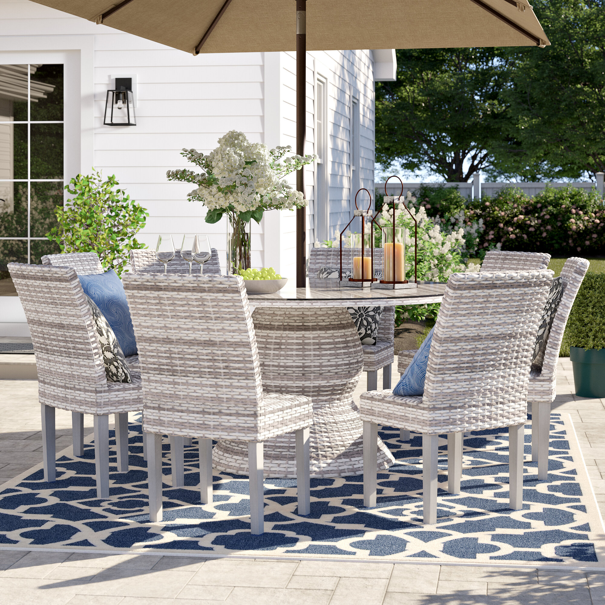 Sol 72 Outdoor Falmouth 9 Piece Dining