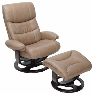 Pedestal Dawson Manual Swivel Recliner with Ottoman