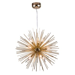 Wrought Studio Steveson Spike Ball Fixture 9-Light Chandelier