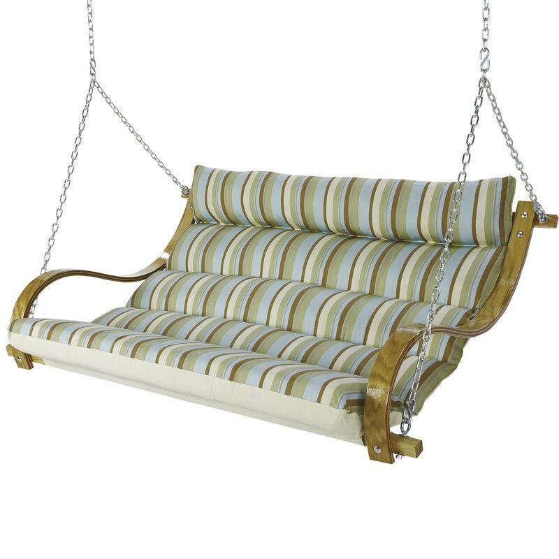 Laude Run Laduke Deluxe Cushioned Double Porch Swing Reviews Wayfair