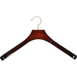 Great choice Britt Contoured Coat Wood Hanger (Set of 24) By Rebrilliant
