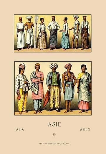 Buyenlarge An Assortment Of Asian Clothing By Auguste Racinet Vintage Advertisement Wayfair