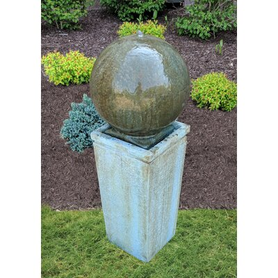 Classic Home and Garden Dorset Cement Sphere Fountain