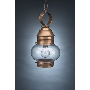 Top Reviews Onion 1-Light Outdoor Hanging Lantern By Northeast Lantern