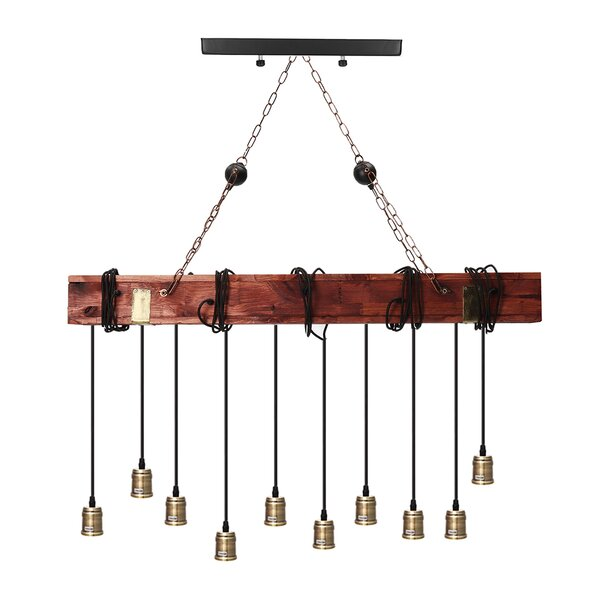 Williston Forge Hafer 10 Light Kitchen Island Linear Pendant Wayfair