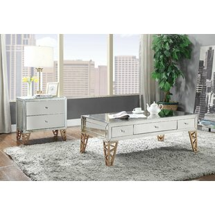 House of Hampton Edmondo 2 Piece Coffee Table Set