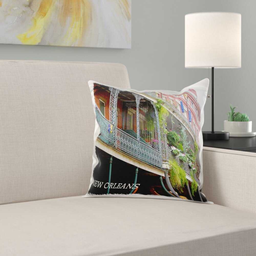 Trinx French Quarter New Orleans Pillow Cover Wayfair