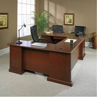 Clintonville 4 Piece U-Shape Desk Office Suite by DarHome Co 2019 Coupon