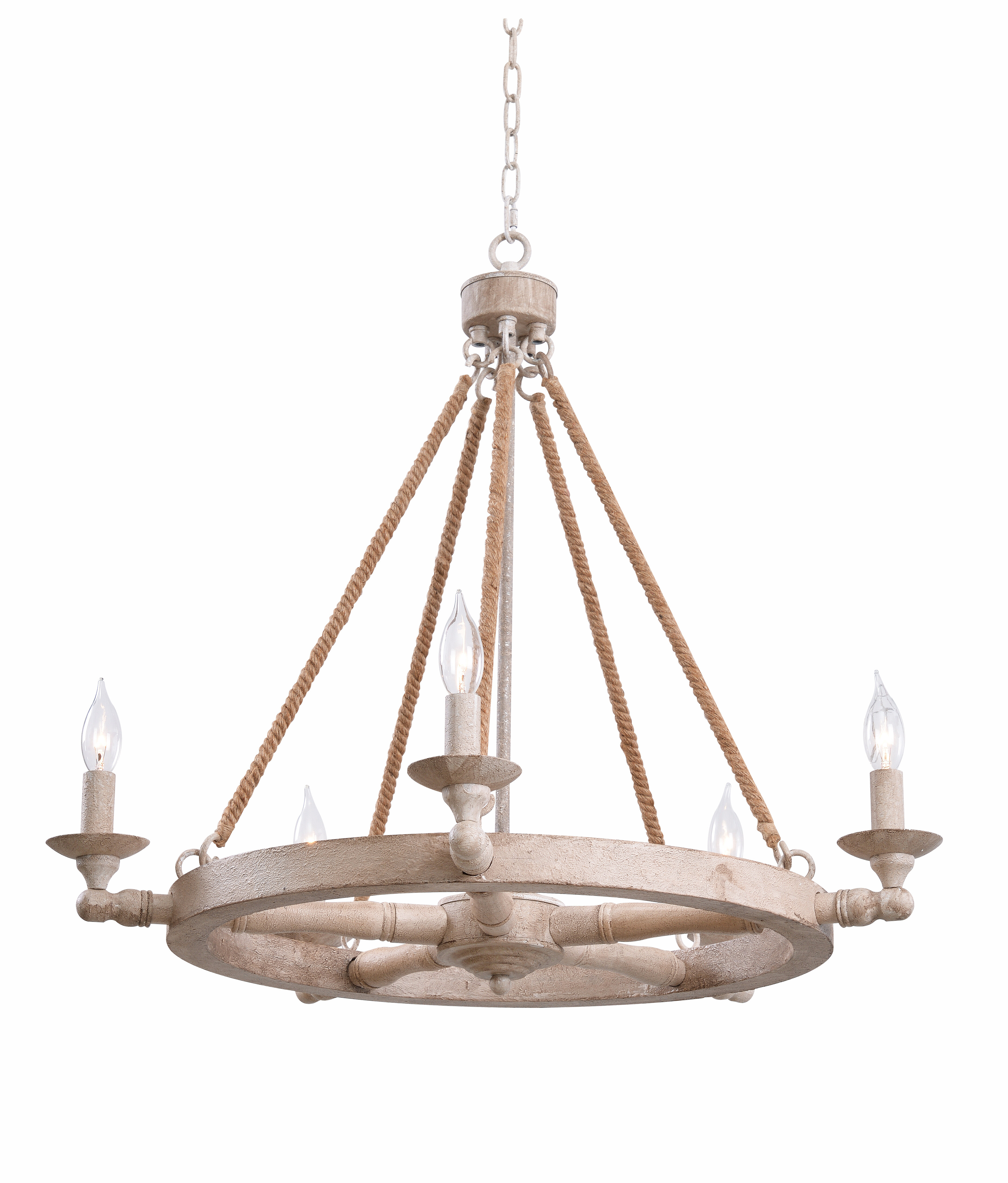 Kalyn 5 light wagon wheel chandelier