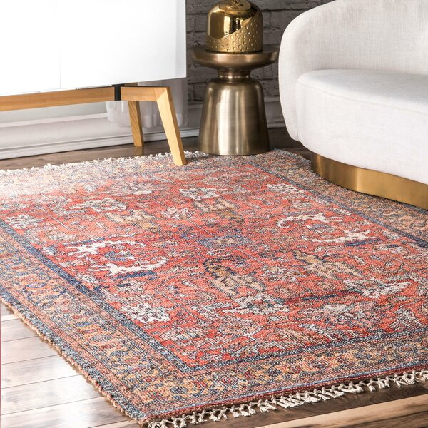 Manolis Oriental Flatweave Pink Blue Area Rug Reviews Birch Lane