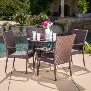 Donato 5 Piece Dining Set by Rosecliff He..