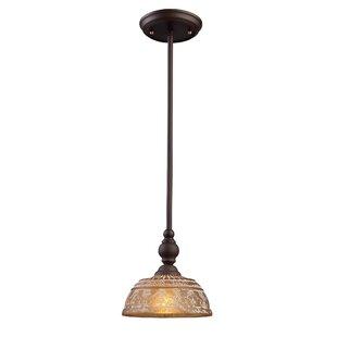 Fleur De Lis Living Burr 1-Light Dome Pendant