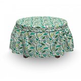 Various Type Foliage Ottoman Slipcover (Set of 2) by East Urban Home