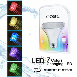 COBY LED Color Changing Full Fixed Shower Head