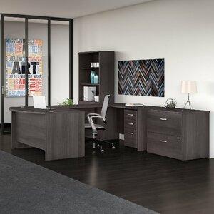 Studio C 3 Piece U Shaped Desk Office Suite