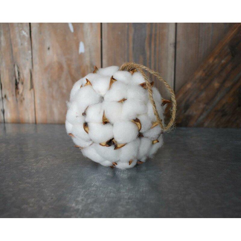 Laurel Foundry Modern Farmhouse Merrill Faux Cotton Ball Vase Filler