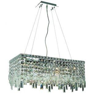 Rosdorf Park Ahmed 6-Light Crystal Chandelier