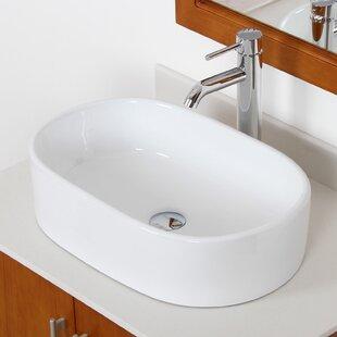 Reviews Ceramic Oval Vessel Bathroom Sink By Elite