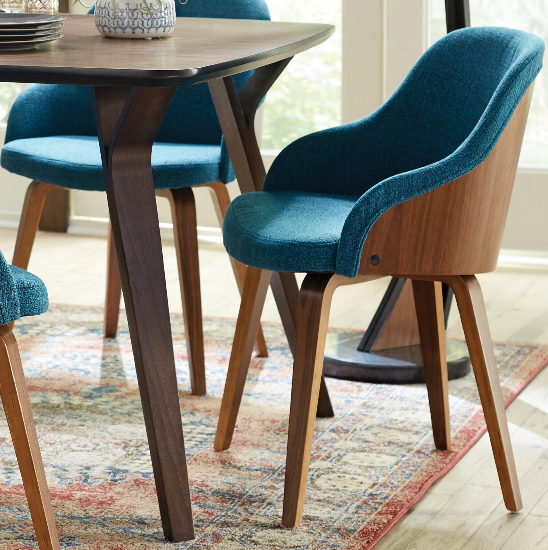 Brighton Mid Century Modern Upholstered Dining Chair Reviews Joss Main
