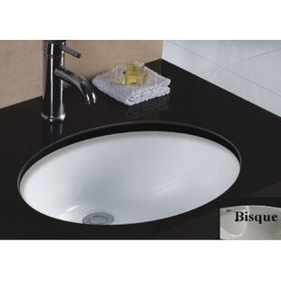 Affordable Rhythm Series Ceramic Oval Undermount Bathroom Sink with Overflow By Wells Sinkware