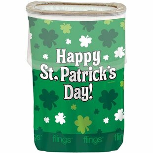 Amscan St. Patrick's Day Pop Up 13 Gallon Trash Can