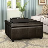 35 Wide Faux Leather Square Storage Ottoman by Andover Mills™