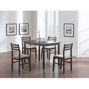 5 Piece Dining Set in Cappuccino by Monarch Specialties Inc.