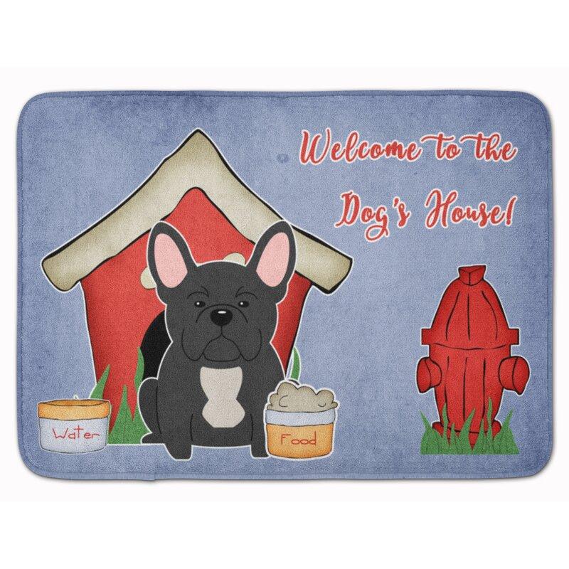 East Urban Home Dog House French Bulldog Rectangle Microfiber Non Slip Animal Print Bath Rug Wayfair