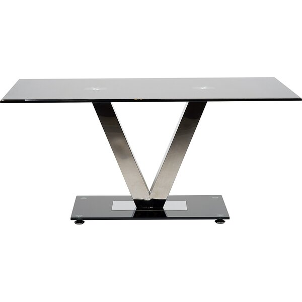 Hokku Designs Glass And Stainless Steel Dining Table | Wayfair.co.uk Part 40