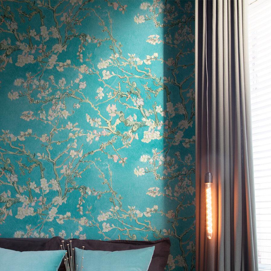 "walls republic van gogh blossoming almond trees 33' x 20.8"" floral"