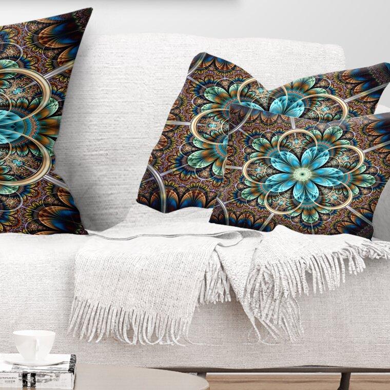 East Urban Home Floral Large Fractal Flower Lumbar Pillow Wayfair