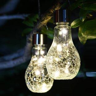 Lightshare Crackle Jar Solar 2 Piece LED Landscape Lighting Set