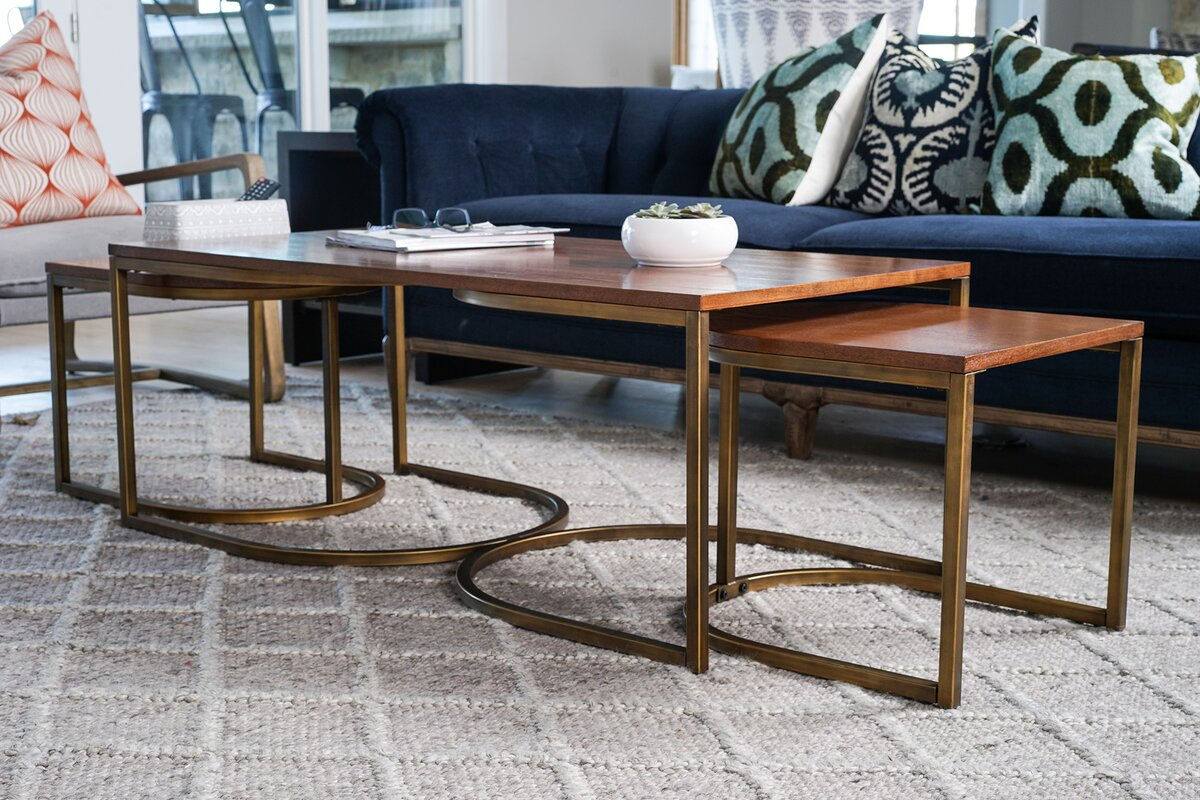 Haven Home Lincoln Nesting 3 Piece Coffee Table Set