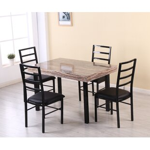 Rubino 5 Piece Dining Set by Latitude Run