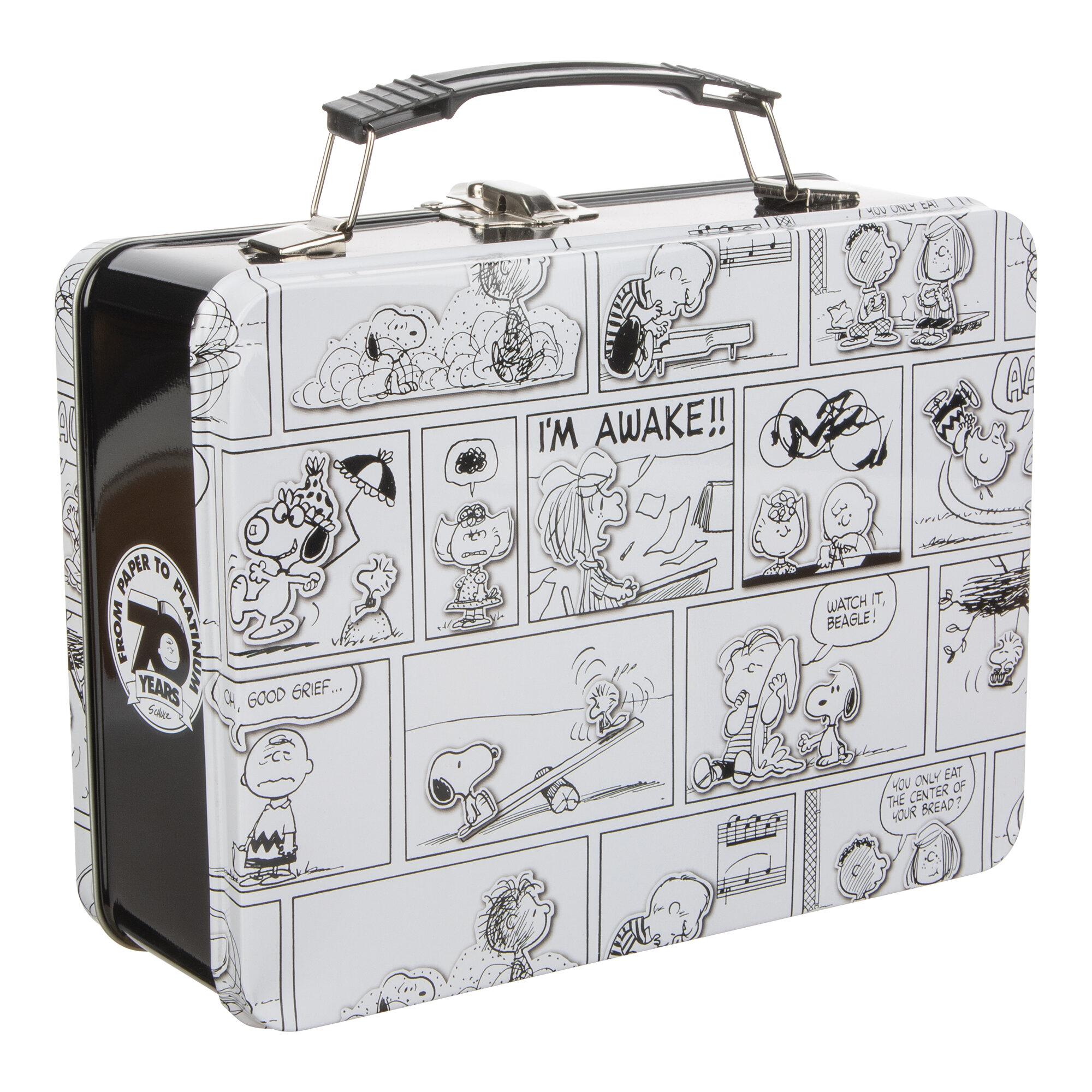 Vandor Peanuts Comic Strip Large Tin Box Wayfair