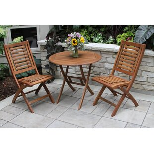 Beachcrest Home Roseland 3 Piece Dining Set