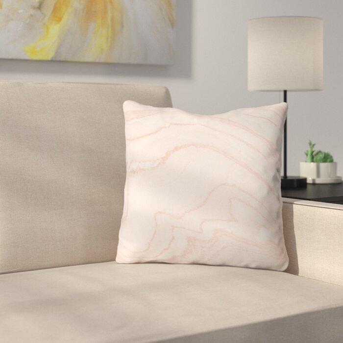 Sensational Currans Blush Marble Outdoor Throw Pillow Evergreenethics Interior Chair Design Evergreenethicsorg