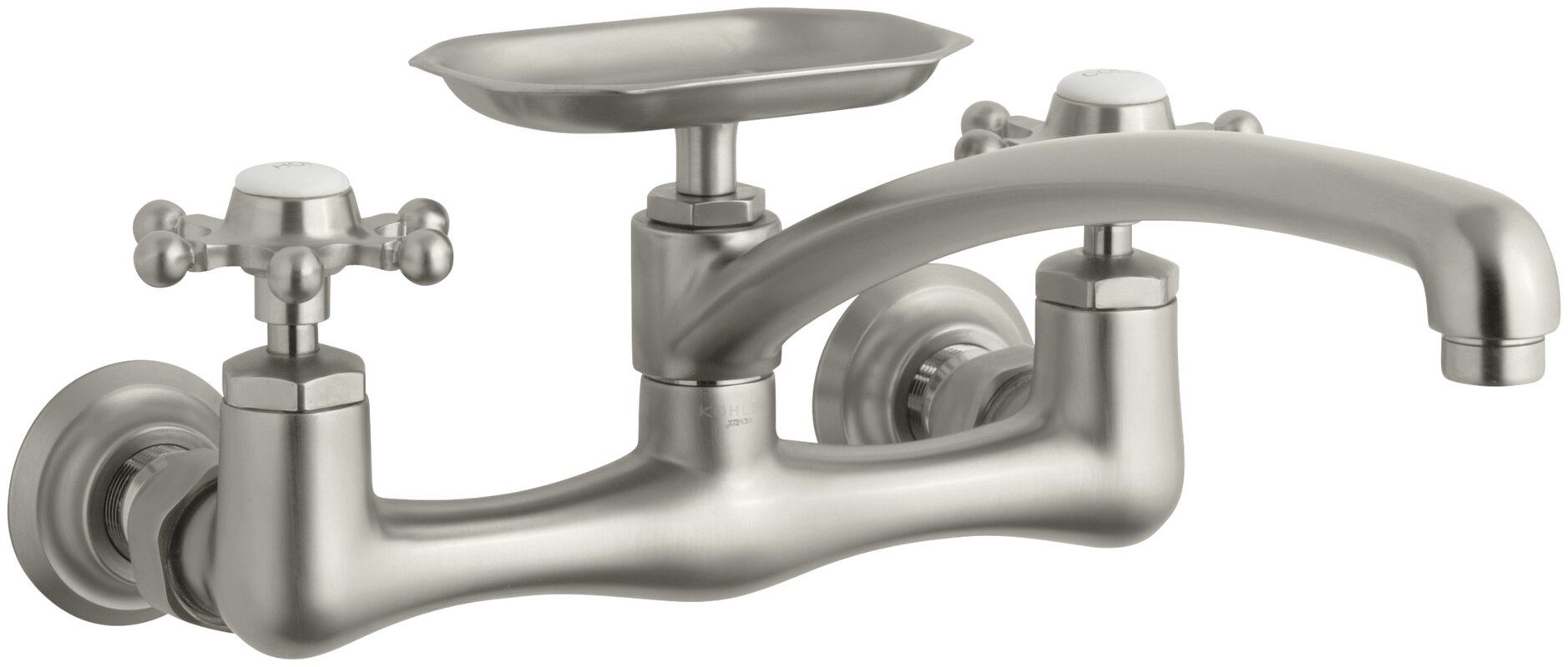 kohler antique two hole wall mount kitchen sink faucet with 8 default name