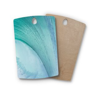 Susan Sanders Birchwood Ocean Wave Cutting Board By East Urban Home