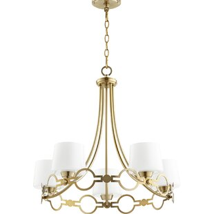 Rosdorf Park Brayshaw 5-Light Shaded Chandelier